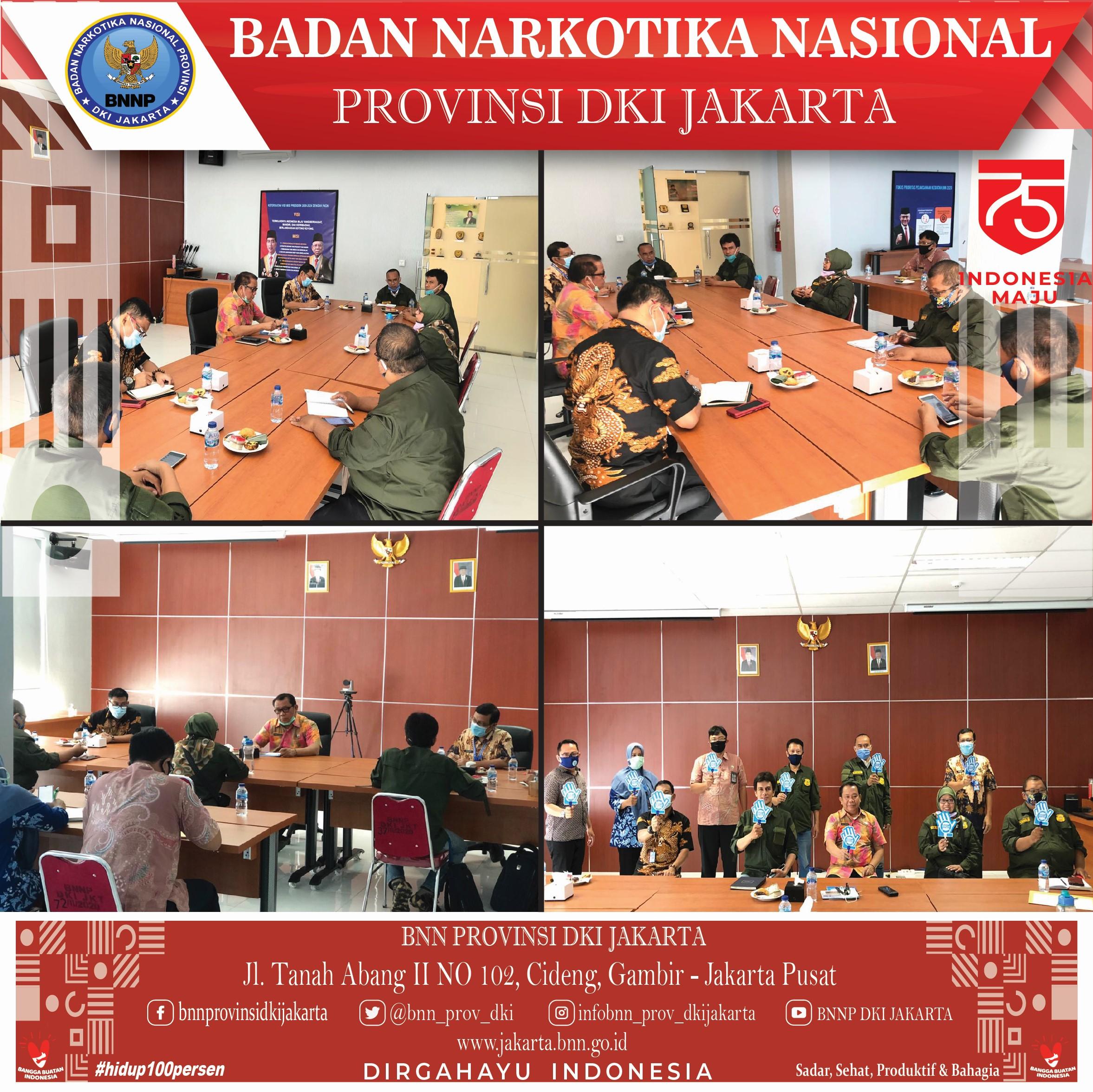 Audiensi dari Forum Kewaspadaan Dini Masyarakat (FKDM) kepada Kepala BNNP DKI Jakarta.
