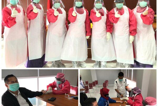 Pelaksanaan rapid test kedua COVID-19 kepada pegawai BNN Provinsi DKI Jakarta