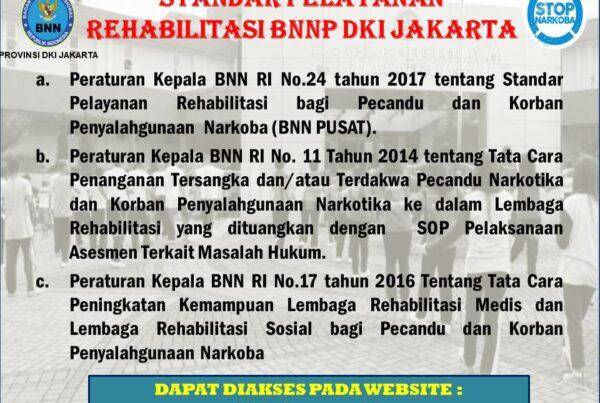 STANDAR PELAYANAN REHABILITASI BNNP DKI JAKARTA