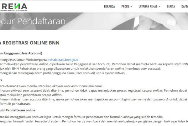 Pendaftaran Layanan Rehabilitasi Online