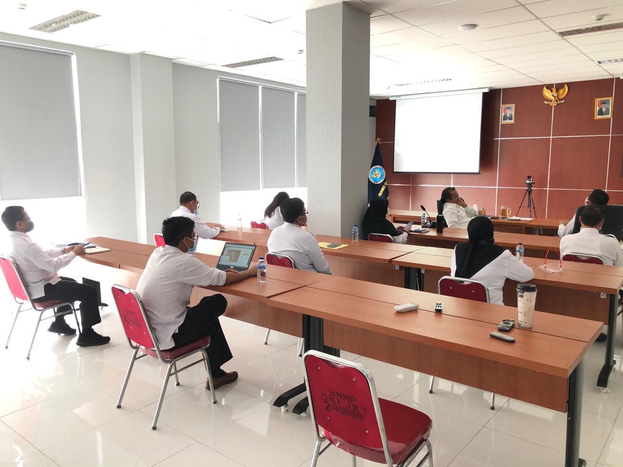 Video Conference antara Kepala BNN RI dengan Para Kepala BNNP & BNNK