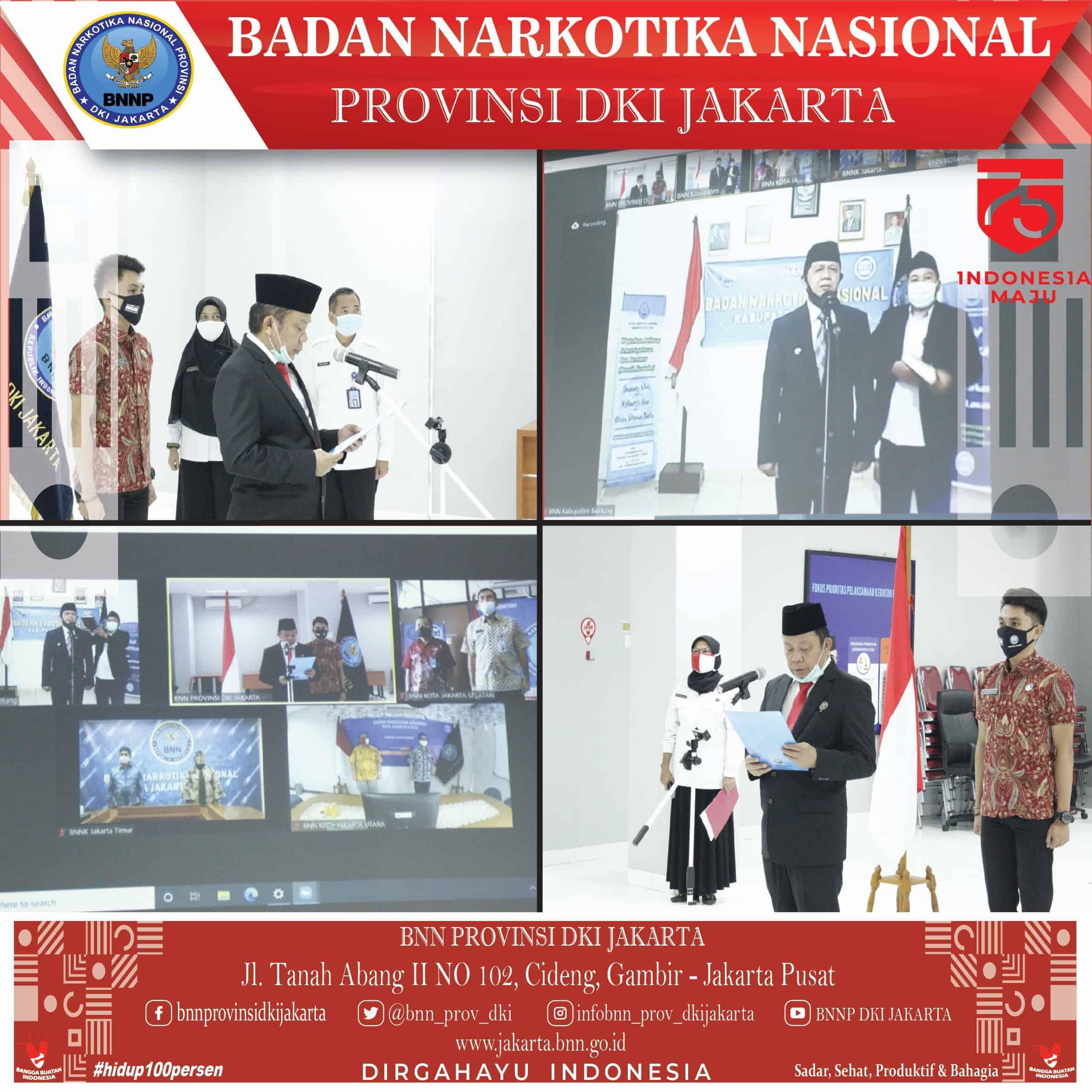 Pelantikan Kepala BNNK Jakarta Selatan Secara Virtual