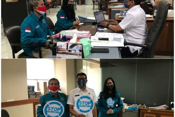 Koordinasi dalam rangka Advokasi Pembangunan Berwawasan Anti Narkoba ke Dinas Perumahan dan Pemukiman Prov. DKI Jakarta