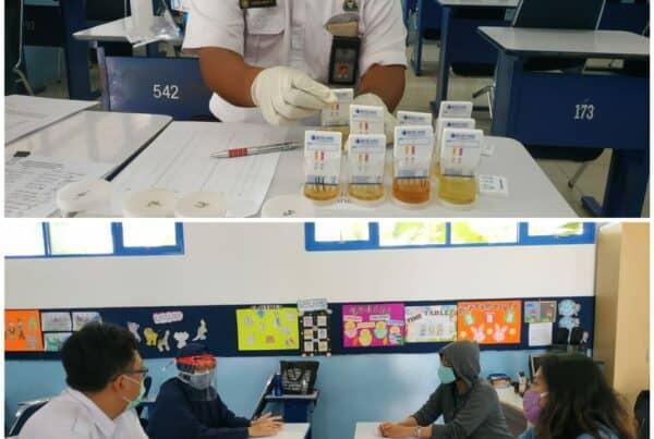 Sosialisasi dan Pemeriksaan Narkotika Melalui Tes Urine bagi Guru dan Karyawan Mahatma Gandhi School.
