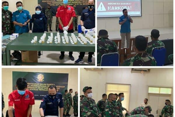 Sosialisasi dan Pemeriksaan Narkotika Melalui Tes Urine bagi Militer dan PNS Zeni Kostrad.