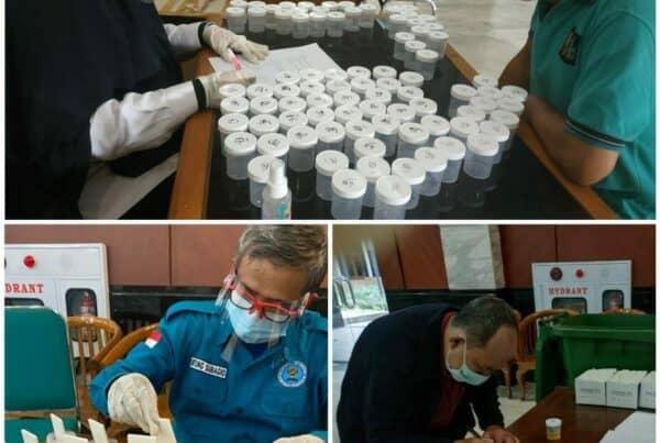 Pemeriksaan Narkotika melalui Tes Urine bagi Calon Anggota FKDM (Forum Kewaspadaan Dini Masyarakat) Kelurahan dan Kecamatan di wilayah Jakarta Timur