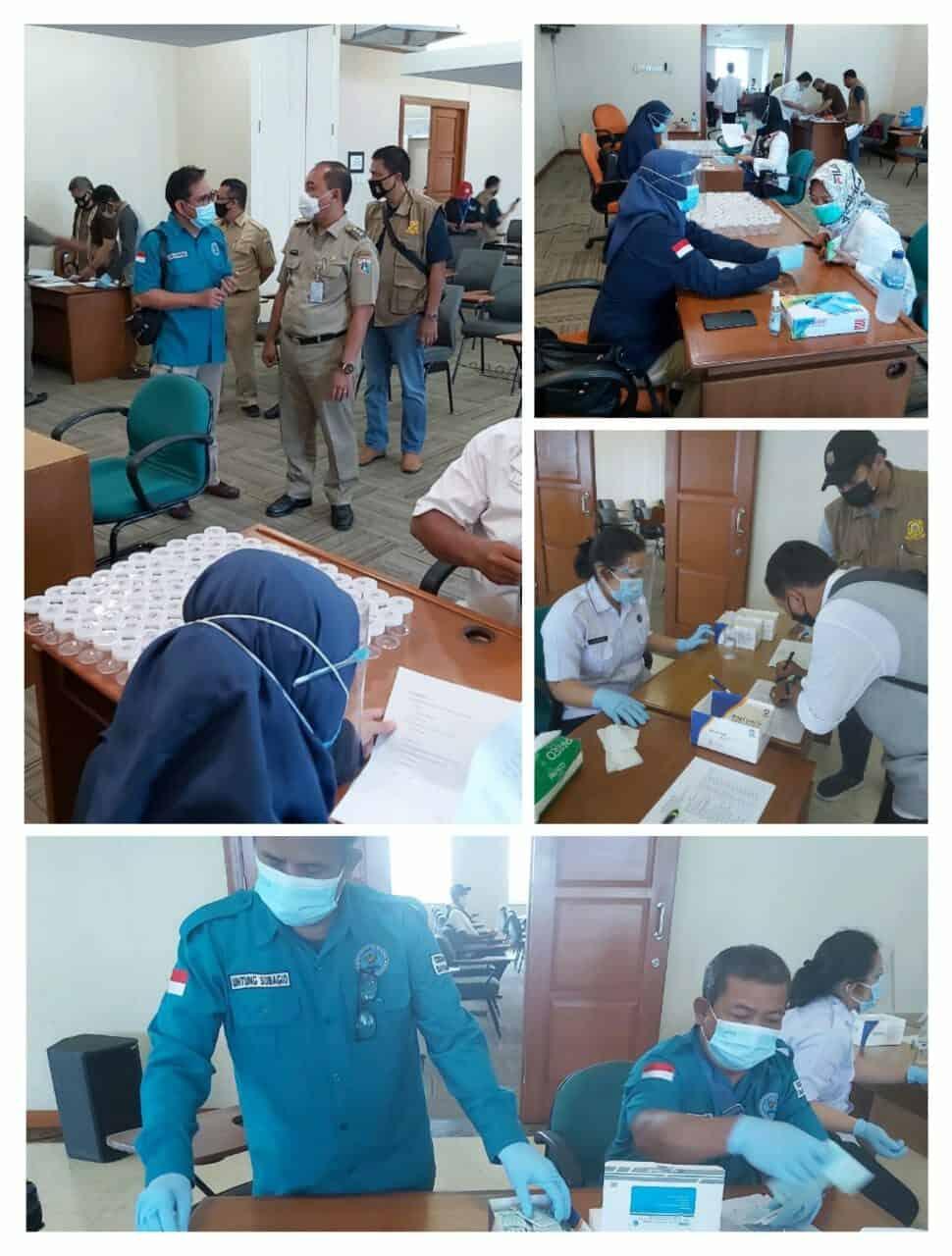 Pemeriksaan Narkotika melalui Tes Urine bagi Calon Anggota FKDM (Forum Kewaspadaan Dini Masyarakat) Kelurahan dan Kecamatan di wilayah Jakarta Barat