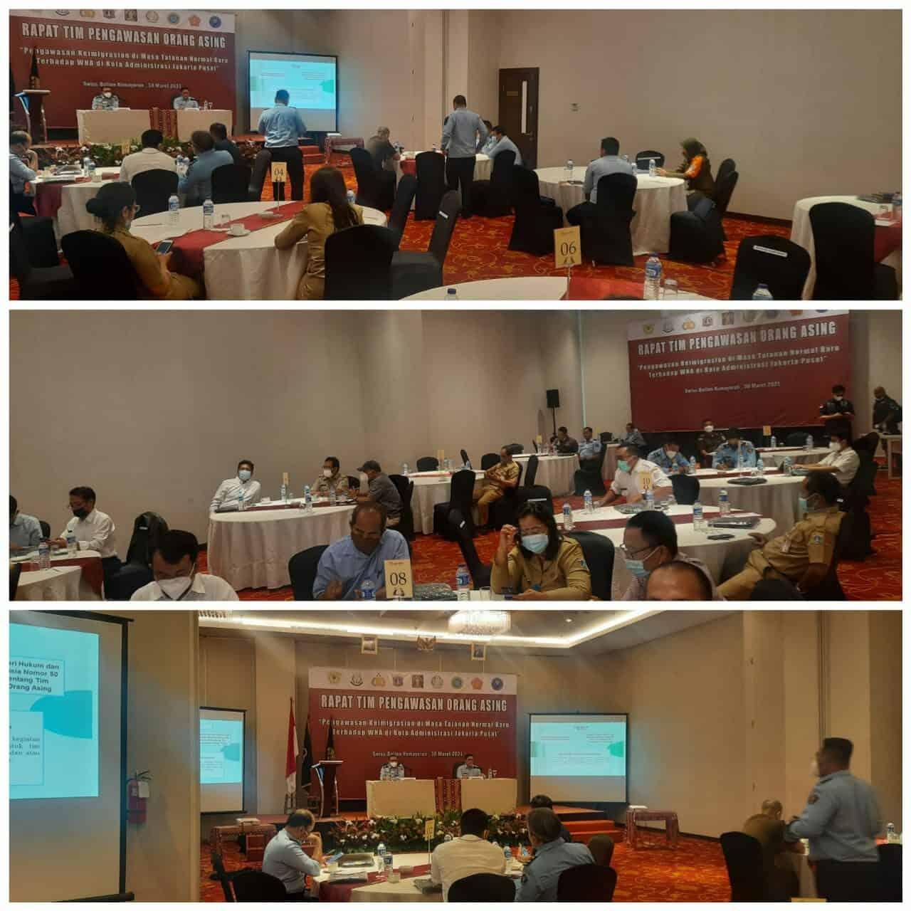 Rapat TIMPORA (Pengawasan Keimigrasian di Masa Tatanan Normal Baru Terhadap WNA di Kota Administrasi Jakarta Pusat).