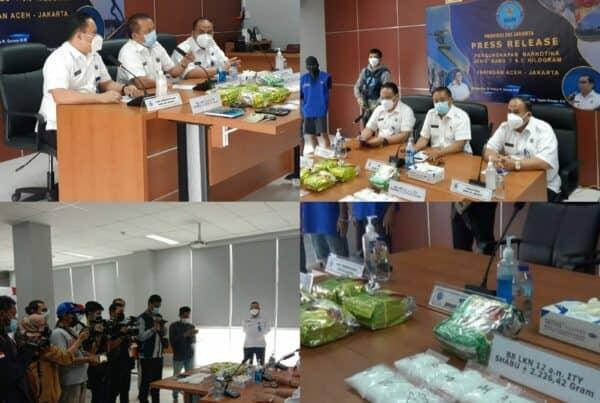 Press Realese Pengungkapan Natkotika Jenis Sabu +- 6,3 Kg Jaringan Aceh – Jakarta Badan Narkotika Nasional Provinsi DKI Jakarta